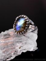 Labradorite ring by IMNIUM