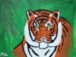 Acrylic Tiger by moniLainLP