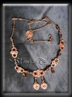 copper wire necklace by Fawkesgirl