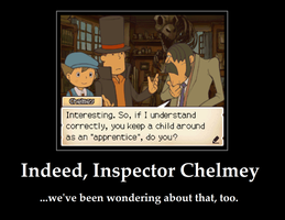 Professor Layton Demotivational - Good Question by Arciam