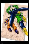 Cell Hammers Goku by darkly-shaded-shadow