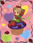 Strawberry Cupcake Faerie by CrystallineColey