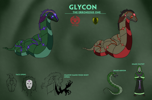 Smite Concept - Glycon, The Erroneous One by Kaiology
