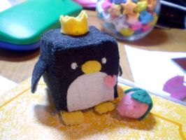 Penguin and Strawberry by NaomiYey