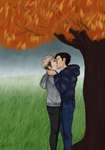 Jeanmarco, trees and rain by PinkStrawberryKitty