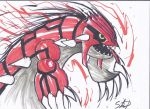 Copic Groudon by StamayoStudio