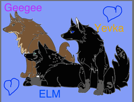 Geegee,Elm, and Yevka by KaliFHunter20