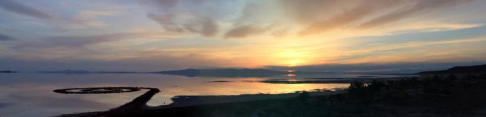 Spiral Jetty Sunset by Red-Isabell