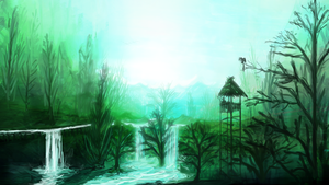 Calm Green Forest by aperson4321