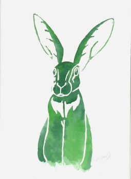 Green Hare by SuicideNeil
