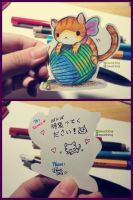 Cute Self-made Bookmark by PawsShiEng