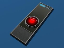 Papercraft Hal 9000 Interface by Tektonten