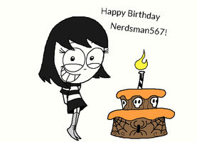 Happy Birthday, Nerdsman567! by Montatora-501