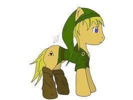 link the pony :P by pictobrony