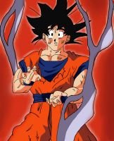 Son Goku Colored by scamed