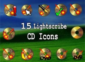 15 lightscribe cd icons by zman3
