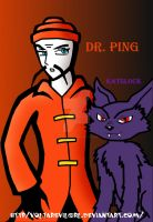 Pixcodelics Dr Ping and Katslock  my anime version by VOLTAREVILGIRL