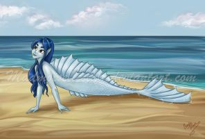 Jasmine a different mermaid Commission by madmoiselleclau