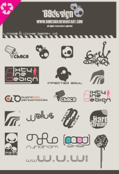 logotypes and icons - work o1 by 69design