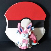 Sylveon Necklace and Pokeball by Loreleiwave