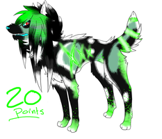 Scene dog point adoptable by Lokymew
