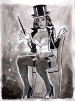 Zatanna Ink Wash by dtor91
