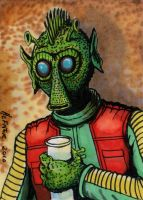 Greedo Sketch Card by HalHefnerART