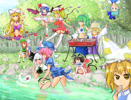 XD we love touhou by HiddenColor