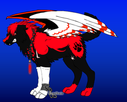 Shadow the Hedgehog as a Wolf by perry321