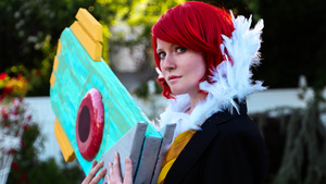 Transistor Game Cosplay - PS'd Wallpaper by Troypc