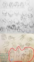 Head And Hand Study by Tsuki-Nii