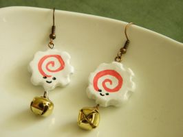 Naruto Fish Cake Earrings by alexredford