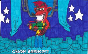 PlayStation All-Stars - Crash Bandicoot by Fox-On-Fire