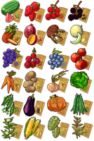 Game Items - Crops by IntroducingEmy
