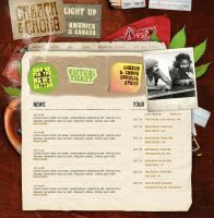 cheech and chong tour website by manya