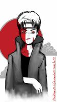 Itachi red moon by Another-Art