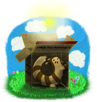 Furret in a Box by Queen-Blanca