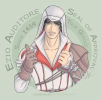 Ezio Approves by hiddenmuse