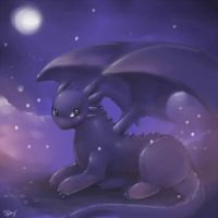 Toothless Speedpaint. by kankitsuru
