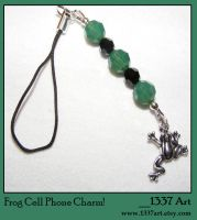Frog Cell Phone Charm by 1337-Art