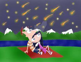 Meteor Shower -color- by natysPnF