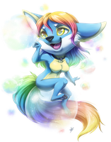 Com: Rainbow Bubbles by DragginCat