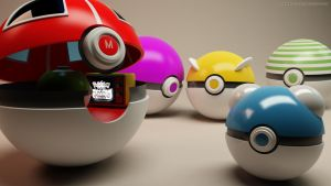 Pokeball gathering 1 by RJamp