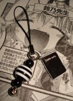 Death Note Phone Charm L Light by honeyheavenly