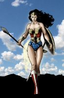 Wonder Woman colouring job. by james-t