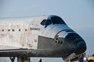 STS-133 Discovery Tow Back II by hansepe