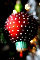 Red Ball Ornament by LDFranklin