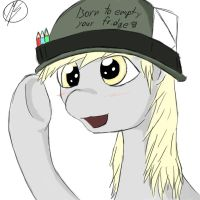 Derpy reporting for duty by Raiding-Viking