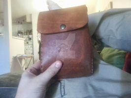Aged leather pouch 8oz leftovers 1 by BlackhandCustoms