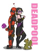 Deadpool and Shiklah Sitting in a Tree by TadBrock